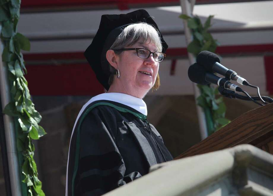 Sharon Kugler is the commencement speaker at the Fairfield University's sixty fourth graduation ceremony on Sunday, May 18, 2014. Photo: BK Angeletti, B.K. Angeletti / Connecticut Post freelance B.K. Angeletti