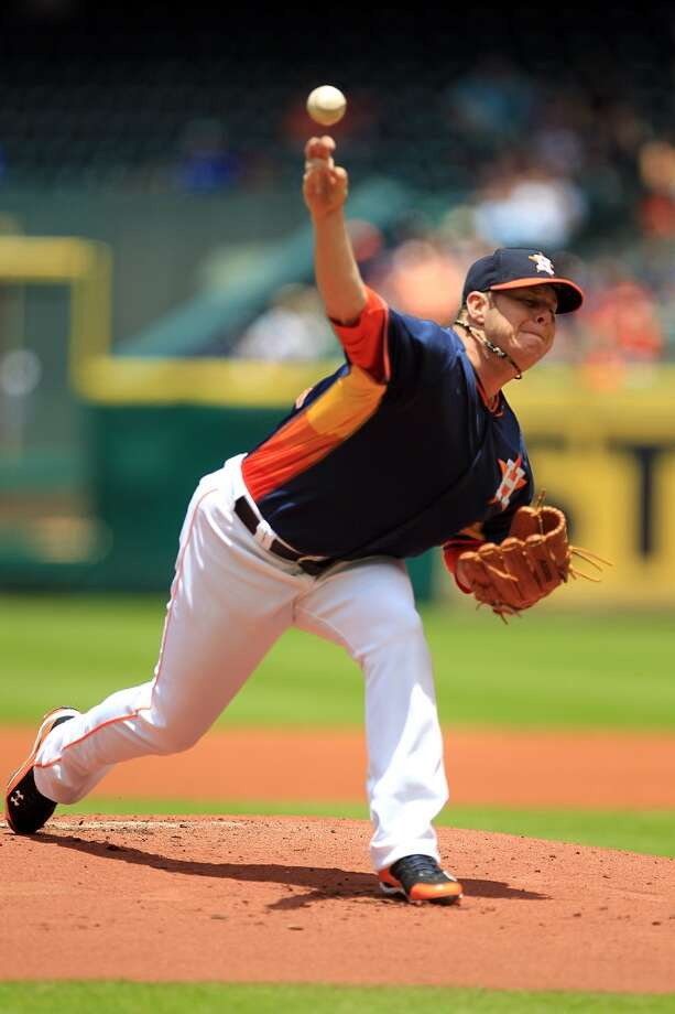 May 18: Astros 8, White Sox 2  Brad Peacock pitches. Photo: Mayra Beltran, Houston Chronicle