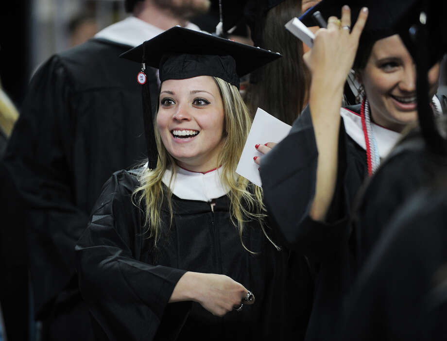 The Sacred Heart University graduation at the Webster Bank Arena in Bridgeport, Conn. on Sunday, May 18, 2014. Photo: Brian A. Pounds / Connecticut Post