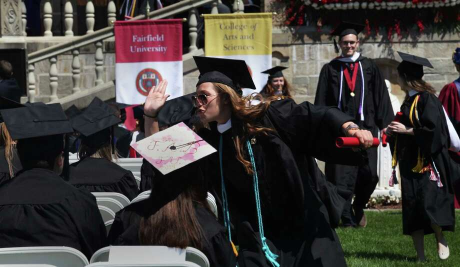 Fairfield University holds its sixty fourth commencement exercises on Sunday, May 18, 2014. Photo: BK Angeletti, B.K. Angeletti / Connecticut Post freelance B.K. Angeletti