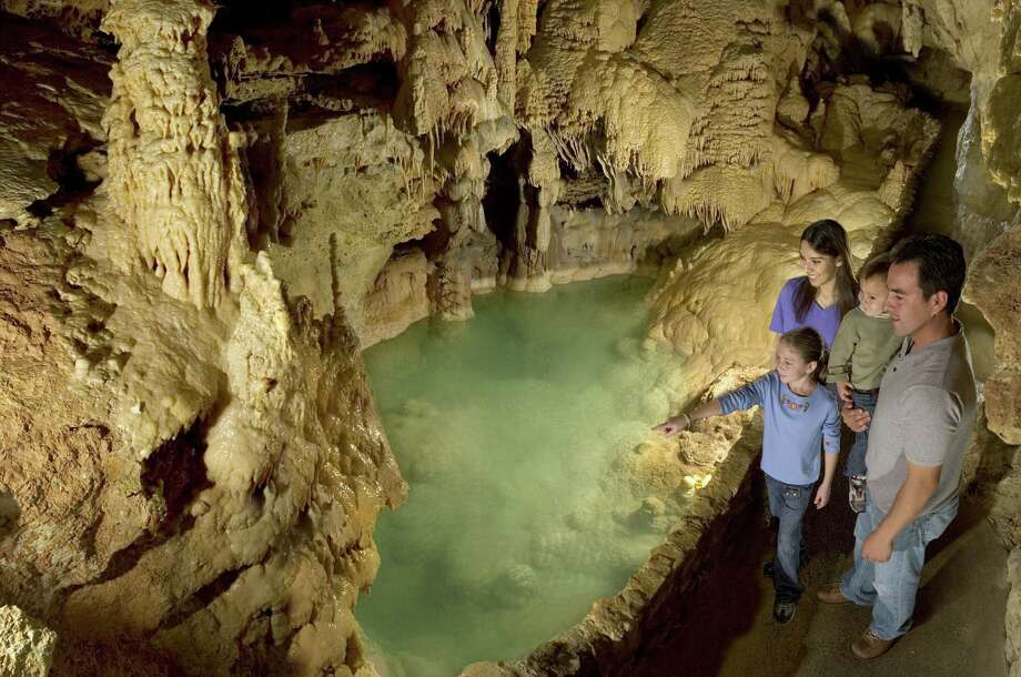 New attractions join the old favorites, such as Emerald Lake, at Natural Bridge Caverns. Photo: Natural Bridge Caverns / Houston Chronicle