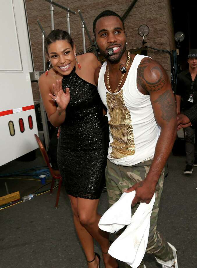 Recording artists Jordin Sparks (L) and Jason Derulo  attend the 2014 Billboard Music Awards at the MGM Grand Garden Arena on May 18, 2014 in Las Vegas, Nevada. Photo: Christopher Polk/Billboard Awards 2014, Getty Images / 2014 Christopher Polk/Billboard Awards 2014