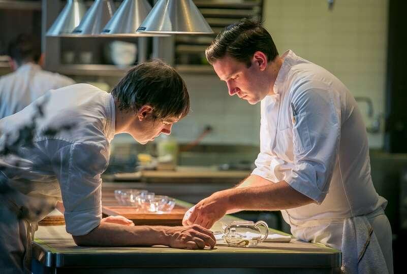 Left peter dumas chef de partie and right mitch - Chef de cuisine definition ...