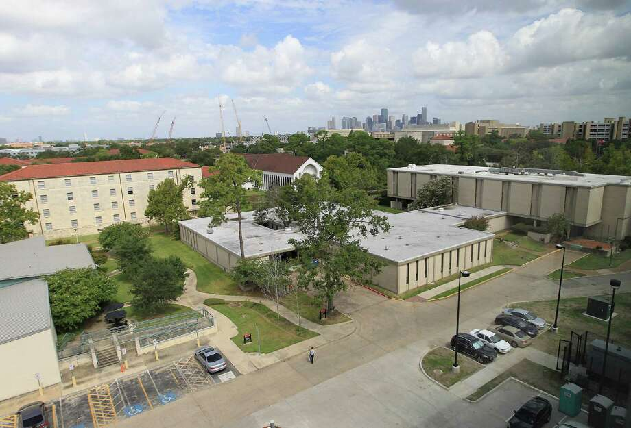 The view from the top floor common area  windows of Cougar Village II, one of two UH dorms where freshmen may be required to spend their first year. Photo: Karen Warren, Houston Chronicle / © 2013 Houston Chronicle