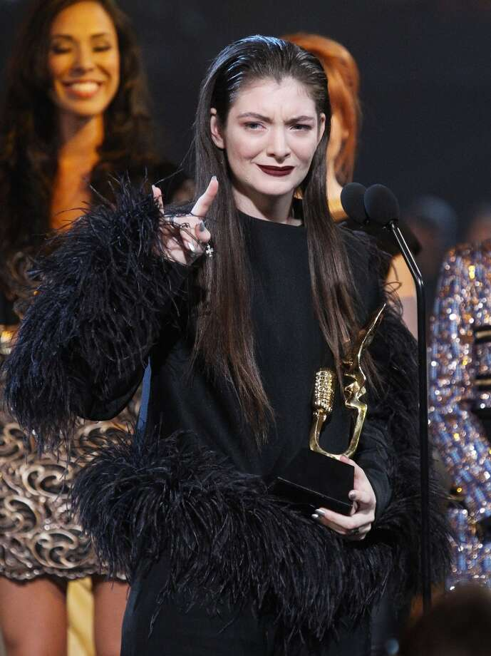 Lorde speaks onstage during the 2014 Billboard Music Awards held at MGM Grand Garden Arena on May 18, 2014 in Las Vegas, Nevada. Photo: Michael Tran, FilmMagic