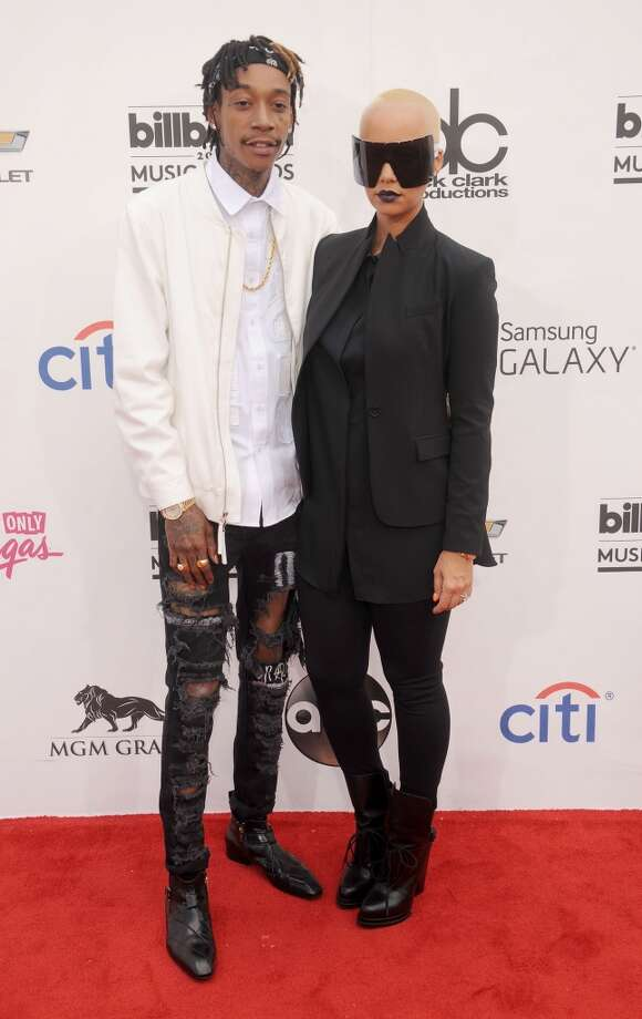 Amber Rose and Wiz Khalifa arrive at the 2014 Billboard Music Awards at the MGM Grand Garden Arena on May 18, 2014 in Las Vegas, Nevada. Photo: Gregg DeGuire, WireImage