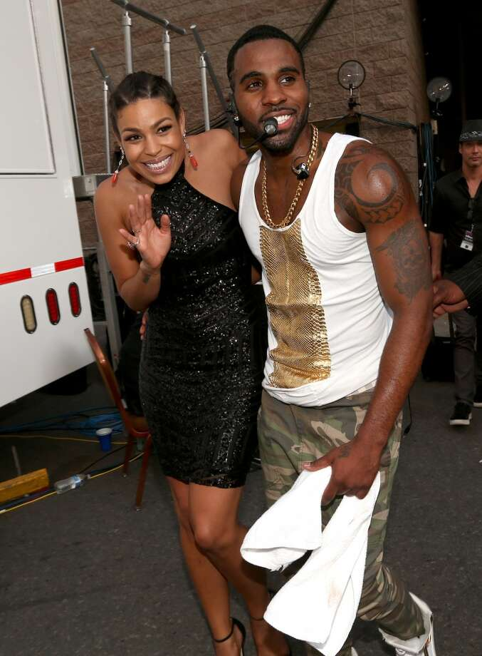 Recording artists Jordin Sparks (L) and Jason Derulo  attend the 2014 Billboard Music Awards at the MGM Grand Garden Arena on May 18, 2014 in Las Vegas, Nevada. Photo: Christopher Polk/Billboard Award, Getty Images For DCP