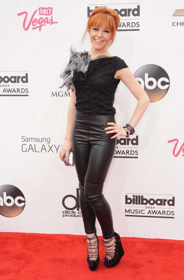 Lindsey Stirling arrives at the 2014 Billboard Music Awards at the MGM Grand Hotel and Casino on May 18, 2014 in Las Vegas, Nevada. Photo: Jon Kopaloff, FilmMagic