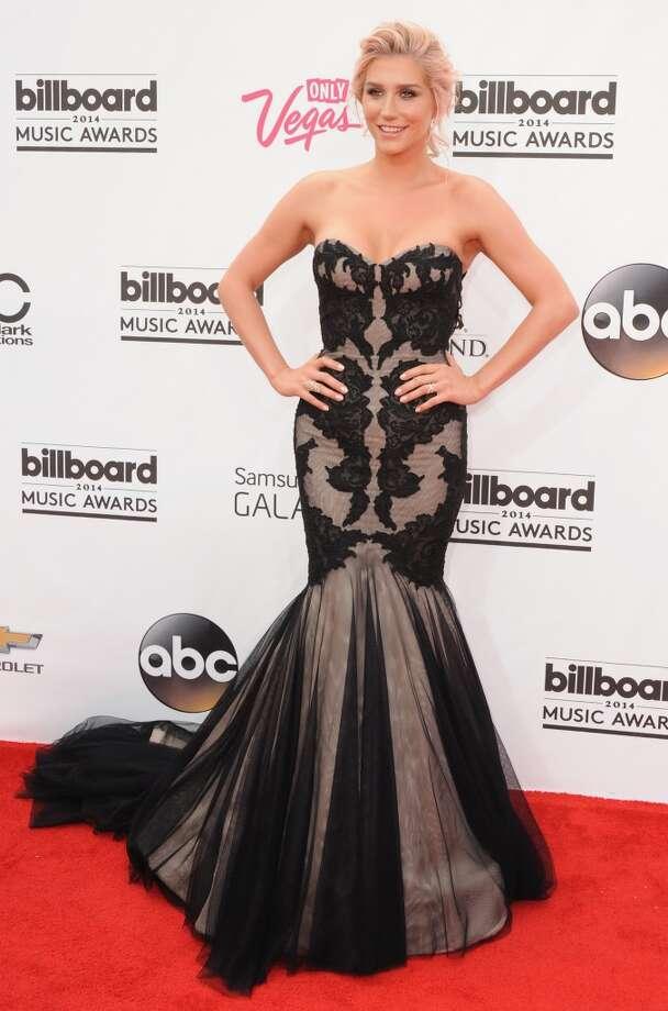Singer Kesha arrives at the 2014 Billboard Music Awards at the MGM Grand Hotel and Casino on May 18, 2014 in Las Vegas, Nevada. Photo: Jon Kopaloff, FilmMagic