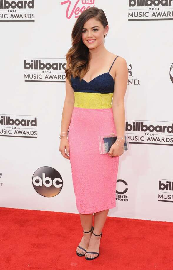 Actress Lucy Hale arrives at the 2014 Billboard Music Awards at the MGM Grand Hotel and Casino on May 18, 2014 in Las Vegas, Nevada. Photo: Jon Kopaloff, FilmMagic