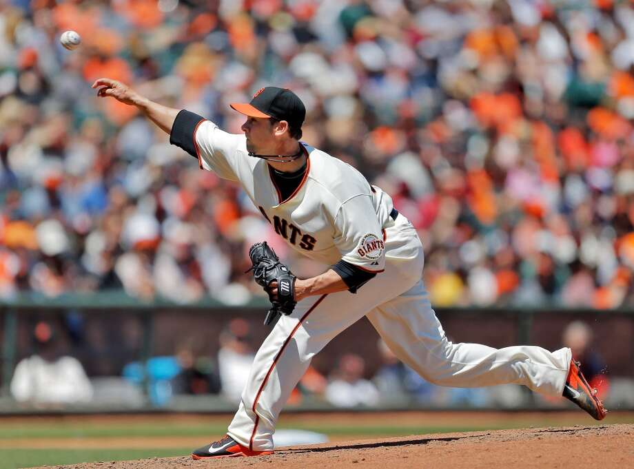 Ryan Vogelsong throws a pitch in the first second inning on Sunday against the Marlins. The San Francisco Giants played the Miami Marlins at AT&T Park in San Francisco, Calif., on Sunday, May 18, 2014. The Giants won 4-1. Photo: The Chronicle