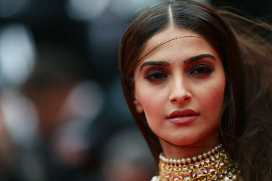 "Sonam Kapoor attends the ""Foxcatcher"" premiere during the 67th Annual Cannes Film Festival on May 19, 2014 in Cannes, France. Photo: Vittorio Zunino Celotto, Getty Images"