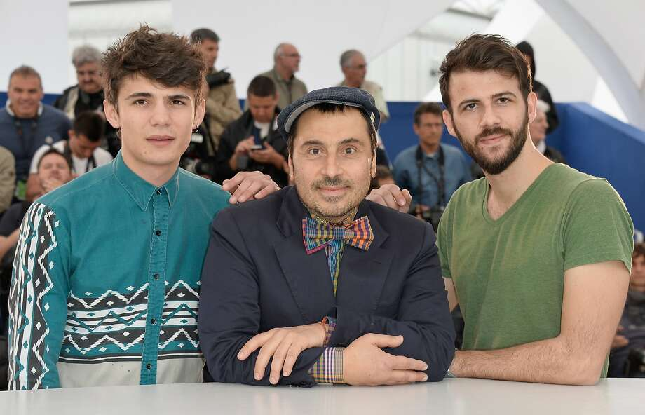 "(L-R) Actor Kostas Nikouli, director Panos Koutras and actor Nikos Gelia attend the ""Xenia"" photocall at the 67th Annual Cannes Film Festival on May 19, 2014 in Cannes, France.  Photo: Pascal Le Segretain, Getty Images"