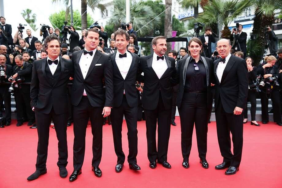 "(L-R) Mark Ruffalo, Channing Tatum, director Bennett Miller, Steve Carell, Megan Ellison and Jon Kilik attend the ""Foxcatcher"" premiere during the 67th Annual Cannes Film Festival on May 19, 2014 in Cannes, France.  Photo: Vittorio Zunino Celotto, Getty Images"