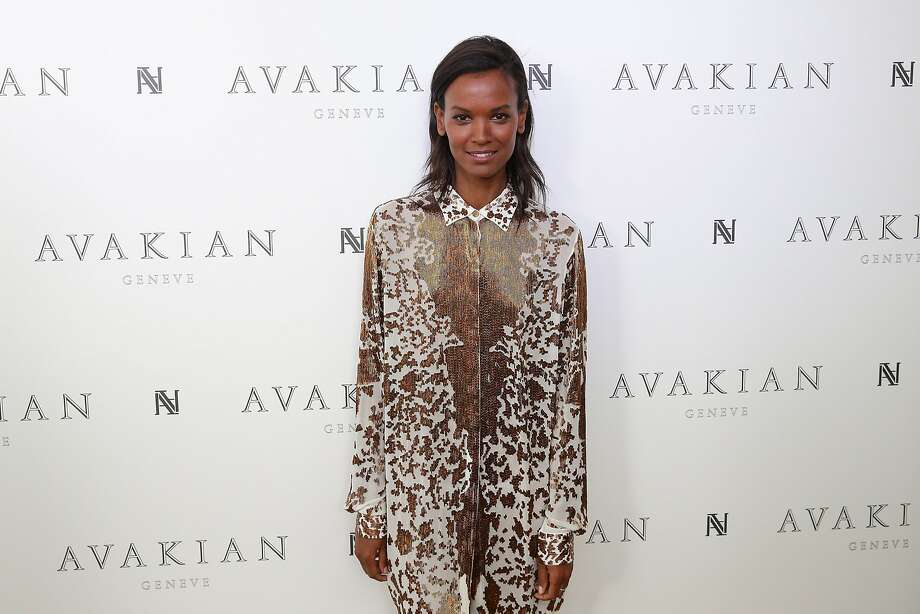 Liya Kebede visits The Avakian Suite on May 19, 2014 in Cannes, France.  Photo: Neilson Barnard, Getty Images For Avakian