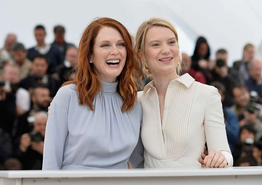 "Actresses Julianne Moore and Mia Wasikowska attend the ""Maps To The Stars"" photocall during the 67th Annual Cannes Film Festival on May 19, 2014 in Cannes, France.  Photo: Pascal Le Segretain, Getty Images"