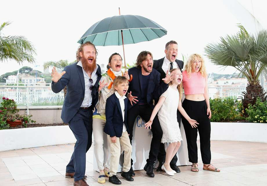 "(L-R) Actors Kristofer Hivju, Lisa Loven Kongsli, Vincent Wettergren, director Ruben Ostlund, actors Johannes Bah Kuhnke, Clara Wettergren and guest attend the ""Turist"" photocall at the 67th Annual Cannes Film Festival on May 19, 2014 in Cannes, France.  Photo: Vittorio Zunino Celotto, Getty Images"