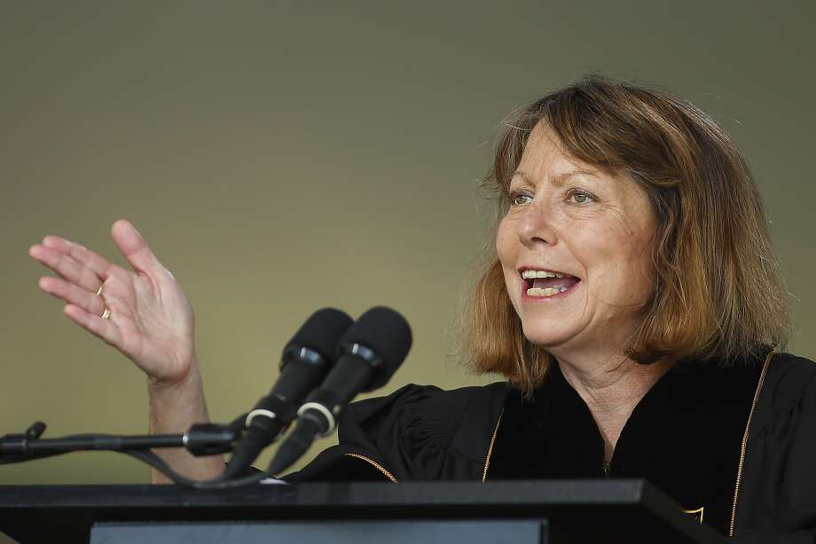 Journalist Jill Abramson speaks at Wake Forest University's graduation. Photo: Chris Keane, Getty Images