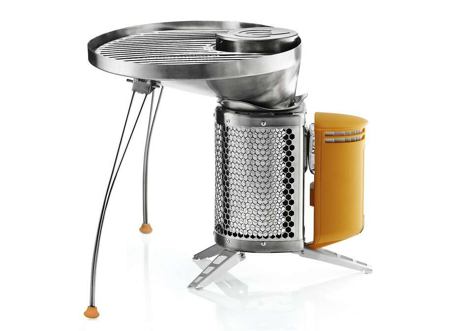 Roughly the size of a French press, the BioLite CampStove and detachable Portable Grill allows you to grill and charge your small electronics. $129 for stove; $59.95 for portable grill. Available at REI; www.biolitestove.com Photo: BioLite