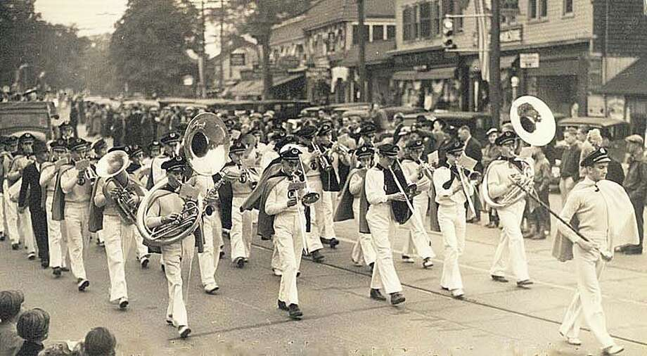 Many towns in the state celebrated  Connecticut's tercentenary or 300th anniversay in 1935. Fairfield hosted several events that year including this big Memorial Day parade. Courtesy: Fairfield Museum and History Center Photo: Contributed Photo / Fairfield Citizen