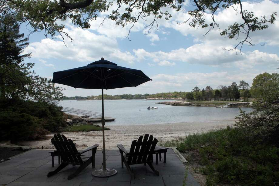 View of the private beach on 53 Contentment Island Road in Darien, Conn., which is for sale. It was once Charles Lindbergh's land. May 19, 2014. Photo: BK Angeletti, B.K. Angeletti / Connecticut Post freelance B.K. Angeletti