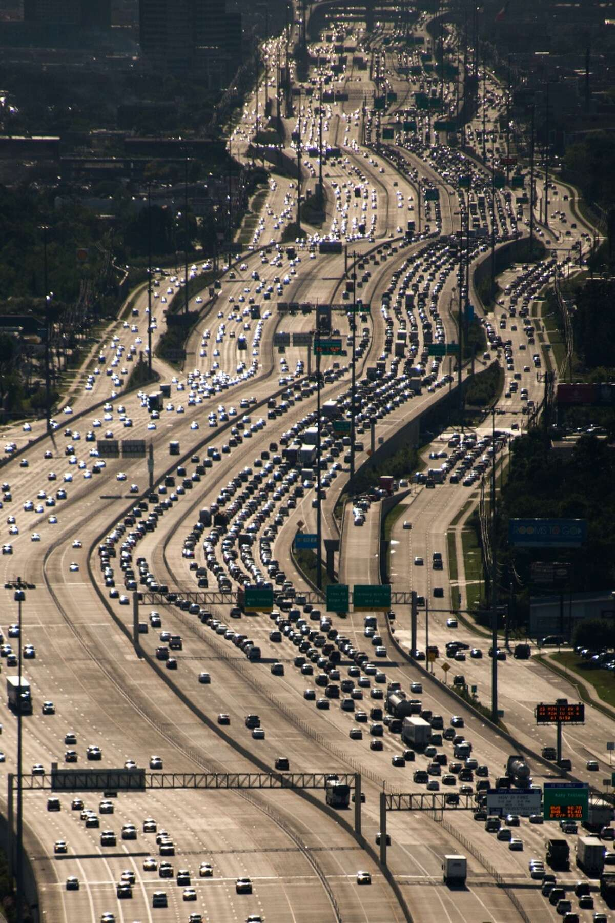 Houston Traffic on the Katy Freeway near Loop 610 is shown in this April 11, 2013, file photo.