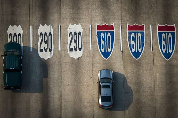 Traffic on Loop 610 at U.S. 290 on Friday, May 17, 2013, in Houston. ( Smiley N. Pool / Houston Chronicle )