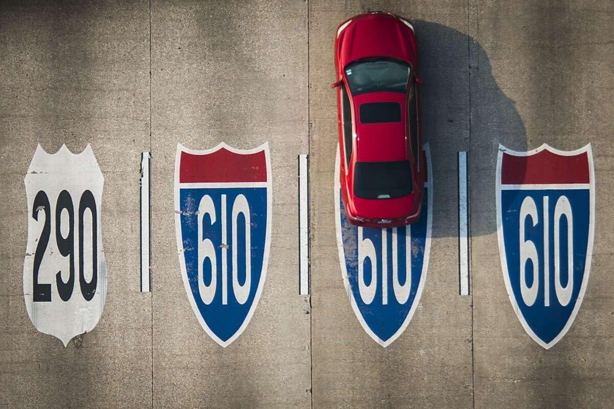 Traffic flows along Loop 610 at U.S. 290 on May 17, 2013.