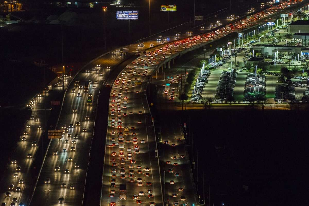 View looking outbound of evening traffic on U.S. 290 near Beltway 8 on Monday, Jan. 20, 2014, in Houston. ( Smiley N. Pool / Houston Chronicle )
