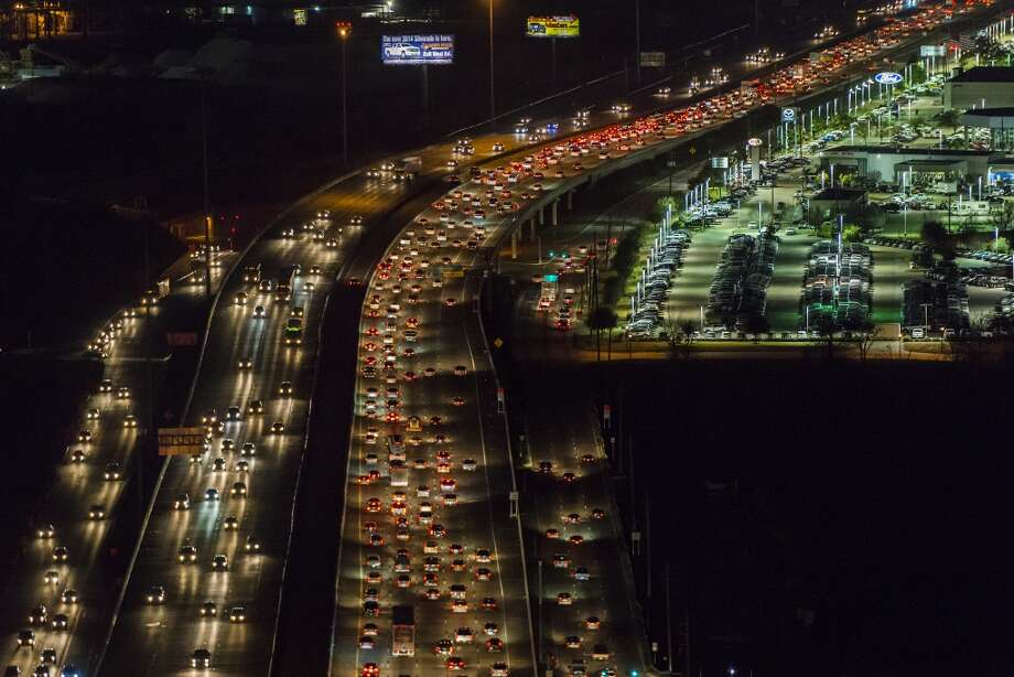 View looking outbound of evening traffic on U.S. 290 near Beltway 8 on Monday, Jan. 20, 2014, in Houston. ( Smiley N. Pool / Houston Chronicle ) Photo: Smiley N. Pool, Houston Chronicle