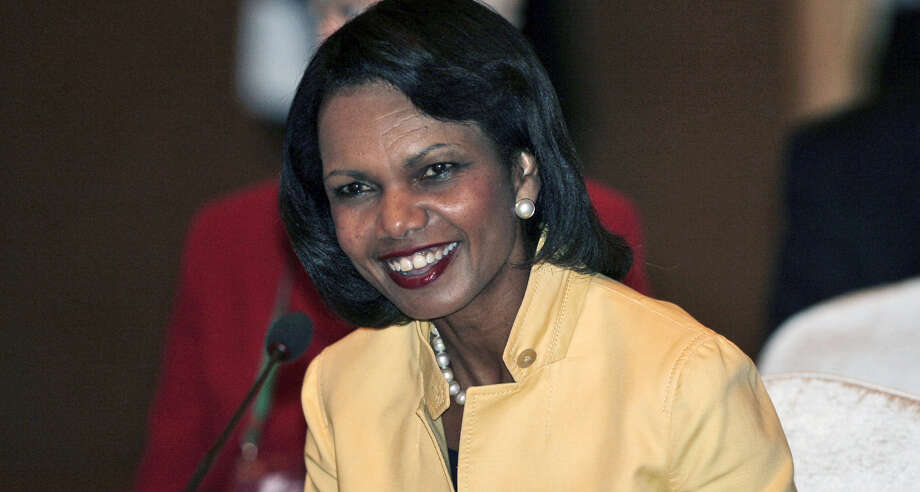 If former  Secretary of State Condoleezza Rice had been allowed to speak to Rutgers graduates, she could have taught them a lesson about the perils of succeeding at any cost. Photo: Associated Press File Photo / Pool AP