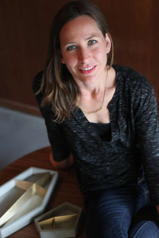 Alice Tacheny is an artist and wood designer who designs modern furniture and accessories of heirloom quality, in San Rafael, Calif. on April 21, 2014. Photo: Deborah Svoboda, The Chronicle