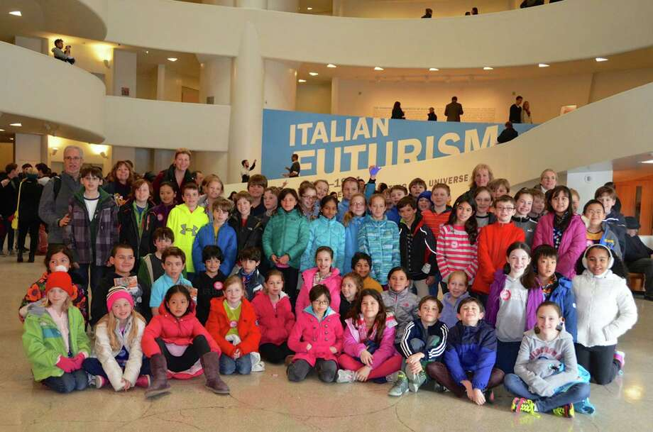 The fourth grade class from the International School at Dundee (ISD) made its 10th annual visit to the Guggenheim Museum in New York City as part of ISDís International Baccalaureate unit: ìHow we Express Ourselves,î exploring how art reflects culture. In preparation for the visit, fourth grade students researched different aspects of painting, sculpture, architecture and writing, connected with the Italian Futurists movement and its rejection of classical forms. As part of the six-week interdisciplinary unit of art and classroom studies, students worked with various media on four different art projects, and created their own written manifesto with regard to a personal belief. Results of their work can be seen in The Italian Futurist Fourth Grade art show, featuring some 300 student works, which will take place on Thursday, May 22, at ISD.   About ISD:  The International School at Dundee was authorized in July of 2003 as an official International Baccalaureate school.  ISD is one of only 181 IB Primary Years Programme (IBPYP) authorized schools in the US, and one of only a few elementary schools in Connecticut to receive the IBPYP accreditation.  ISD offers programs for students from kindergarten through fifth grade. http://www.greenwichschools.org/page.cfm?p=7 Photo: Contributed Photo / Greenwich Time Contributed