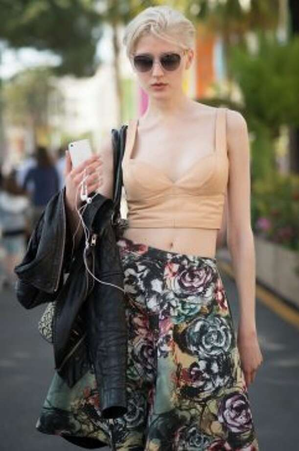 Lovise Helvig on the streets in Cannes during the 67th Annual Cannes Film Festival on May 17, 2014 in Cannes, France. Photo: Timur Emek, French Select Via Getty Images