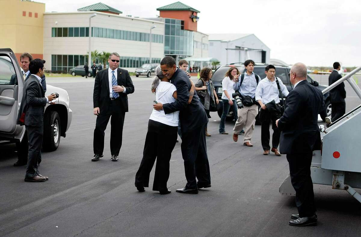 18. Jacksonville International Airport, Jacksonville, Florida 50 guns collected in the past two years (27 in 2012 and 23 in 2013)PHOTO: Democratic presidential nominee U.S. Sen. Barack Obama (D-Illinois) is hugged as he prepares to board his plane at Jacksonville International Airport on Nov. 3, 2008, in Jacksonville, Florida.