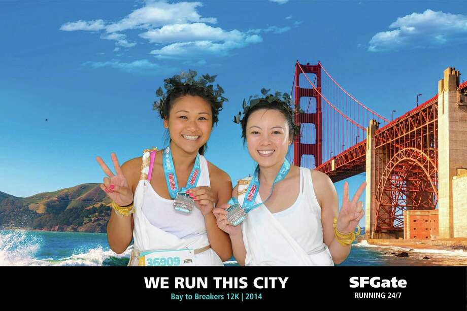 Portraits from the SFGate photobooth during Bay to Breakers 2014 on May 18, 2014. Photo: Raymond Macalisang / Heart Photobooth