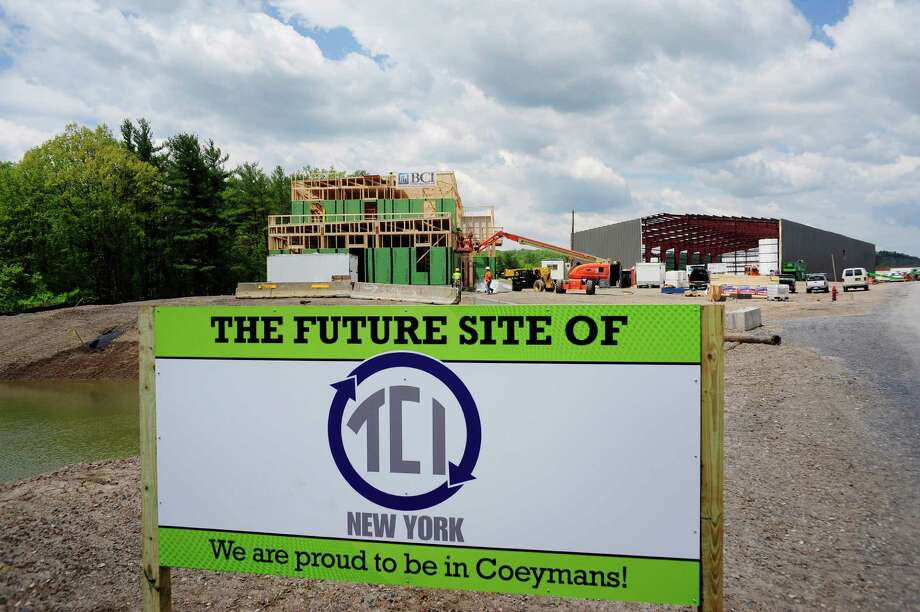 Construction continues on the new headquarters of TCI of New York on Monday, May 19, 2014, in Coeymans, N.Y.  (Paul Buckowski / Times Union) Photo: Paul Buckowski / 00026937A