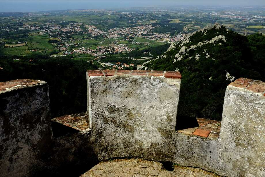 The Castle of the Moors, upper right, as seen from the heights of the Pena National Palace in May 2014, in Sintra, Portugal. Photo: JORDAN STEAD / JORDAN STEAD