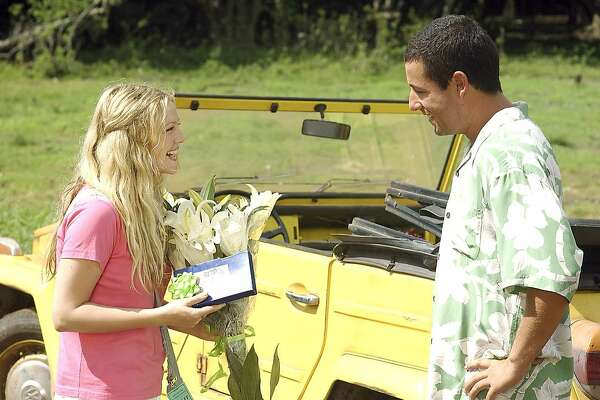 "Drew Barrymore and Adam Sandler star in Columbia Pictures romantic comedy ""50 First Dates.""  (AP  Photo/ Darren Michaels)  Drew Barrymore plays Adam Sandler's girlfriend, a woman whose memory lasts only 24 hours, in &quo;50 First Dates.&quo;"