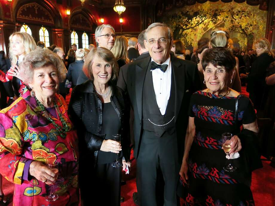 Delia Erhlich (left), Vicki Fleishhacker, David Fleishhacker, ACT trustee Frannie Fleishhacker. Photo: Catherine Bigelow, Special To The Chronicle