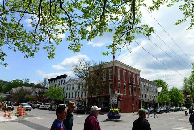 Main St. at Pioneer St. in Cooperstown Monday, May 19, 2014, in Cooperstown, N.Y.  The Baseball Hall of Fame is pictured at left. (Will Waldron/Times Union) Photo: WW