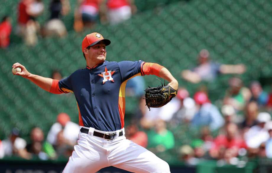 Mark Appel, the top pick of the 2013 draft, will spend the last month of the regular season at the Astros' Class AA club in Corpus Christi. Photo: Melissa Phillip, Staff / © 2014  Houston Chronicle