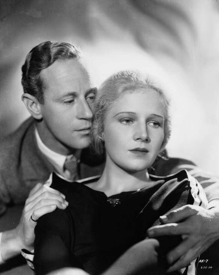 The great Ann Harding, with Leslie Howard, in a still for THE ANIMAL KINGDOM (1932).  If you want to see a great and very modern actress -- someone who paved the way for modern screen actresses -- see Harding in this.  Then see her in everything else. Photo: Ernest Bachrach, Getty Images / Moviepix