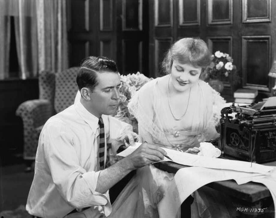 Director Monta Bell (1891 - 1958) consults with his star Jeanne Eagels (1890 - 1929) during the filming of 'Man, Woman and Sin'.  She's unforgettable in that, but it's hard to see.  She's at least as remarkable in THE LETTER, a talkie from 1929. Photo: John Kobal Foundation, Getty Images / Moviepix