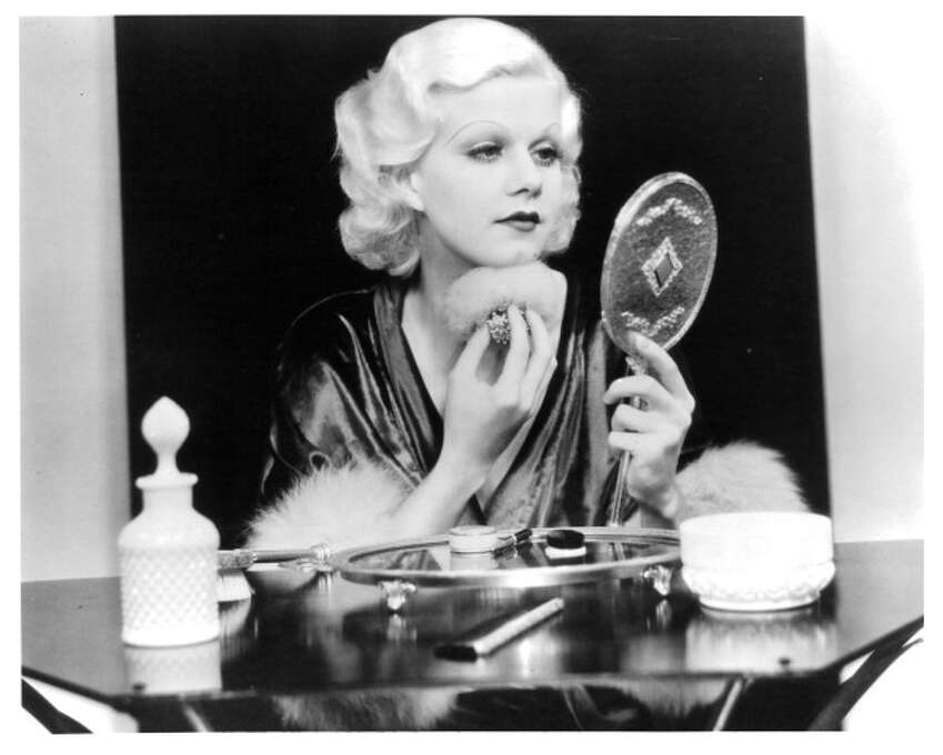Jean Harlow powders in a scene from the film 'Dinner At Eight', 1933. Very beautiful, very warm, free-spirited and extremely funny.  Also see her in BOMBSHELL and RED DUST.  Then see her in everything else. Photo: Archive Photos, Getty Images / 2012 Getty Images