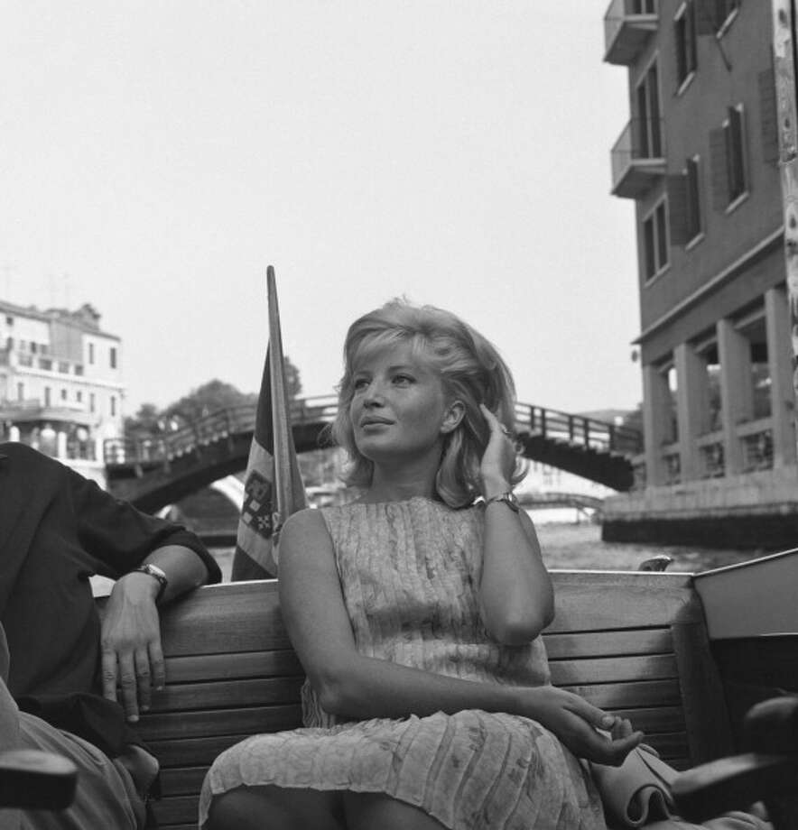 Monica Vitti, shown here in Venice for the debut of L'ECLISSE, her greatest film with Michelangelo Antonioni.  When I think of a certain variety of romantic self-absorption and modern angst, I think of Vitti -- especially in L'ECLISSE, but also in L'AVVENTURA. Photo: Archivio Cameraphoto Epoche / Hulton Archive