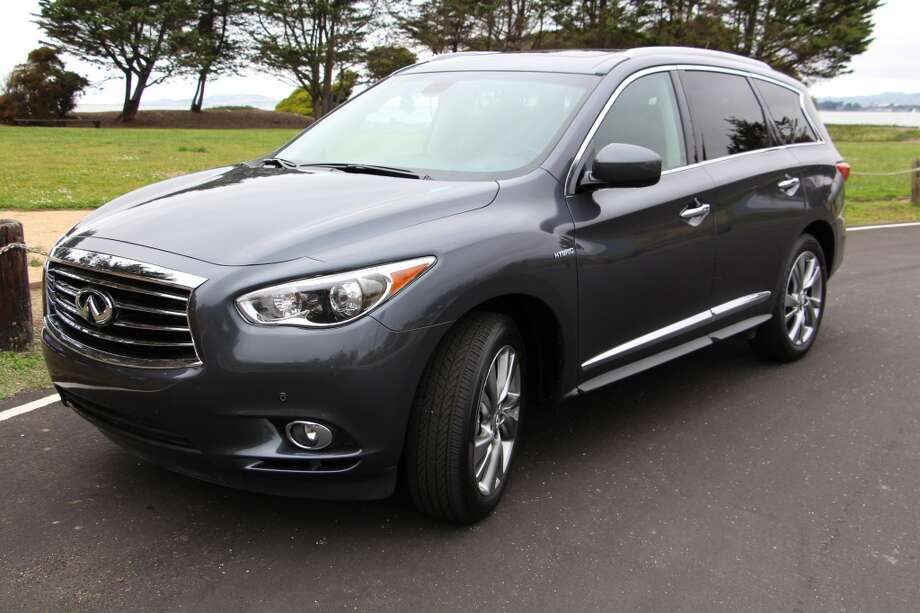 The 2014 Infiniti QX60 Hybrid SUV is one of many luxury SUVs on the market. This one is priced at just over $60,000, including some $14,000 worth of options.  (All photos by Michael Taylor)