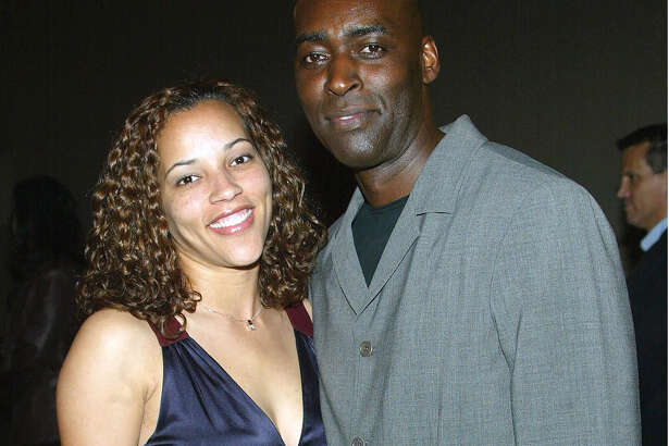 """FILE — April and Michael Jace attend a screening of """"The Shield"""" in 2004."""