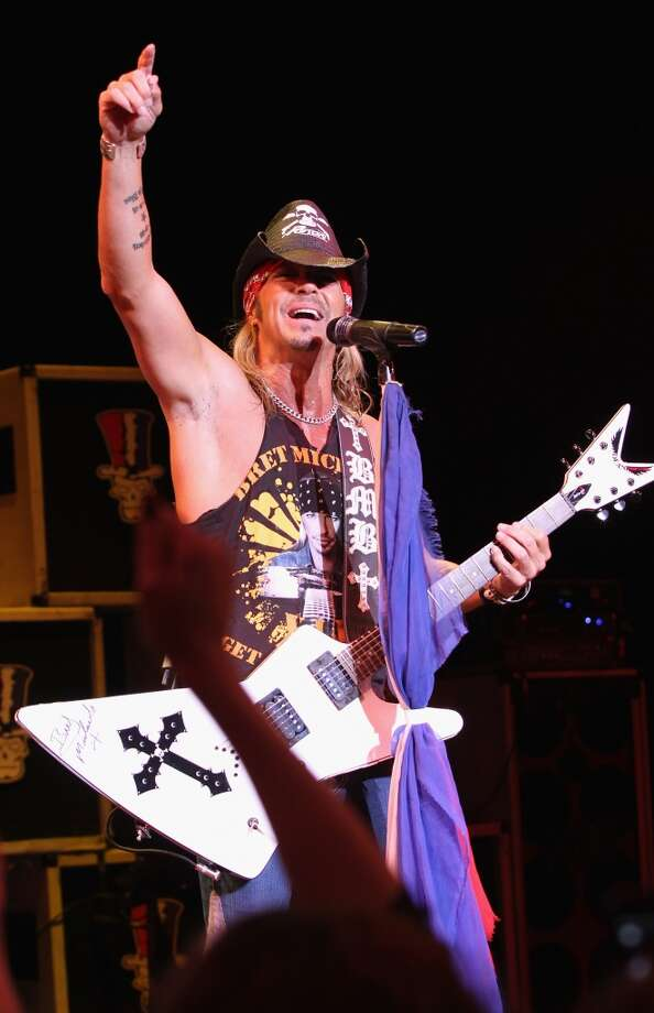Bret Michaels performs at Stamford's Alive @ Five concert series on Thursday, July 25. Here he is on stage at the Tropicana Showroom in Atlantic City, N.J. on Sept. 21, 2012. Photo: Jerritt Clark, WireImage