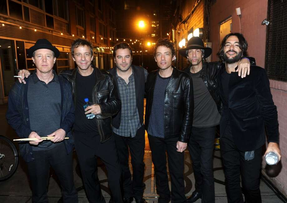 The Wallflowers perform at Stamford's Alive @ Five concert series on Thursday, June 20. Musician Jack Irons, producer Jay Joyce, musicians Greg Richling, Jakob Dylan, Stuart Mathis and Rami Jaffee of The Wallflowers pose before performing at the Bowery Boutique in New York City on Oct. 2, 2012 in New York City. Photo: Jamie McCarthy, Getty Images For John Varvatos